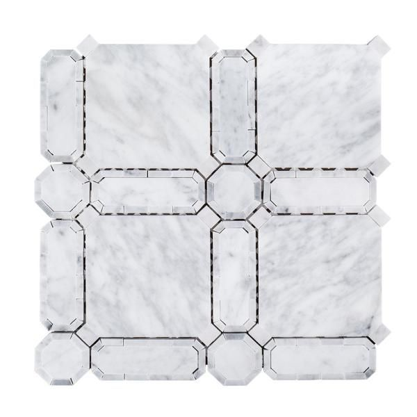Jeff Lewis Windsor White 11.625 in. x 11.625 in. x 10 mm