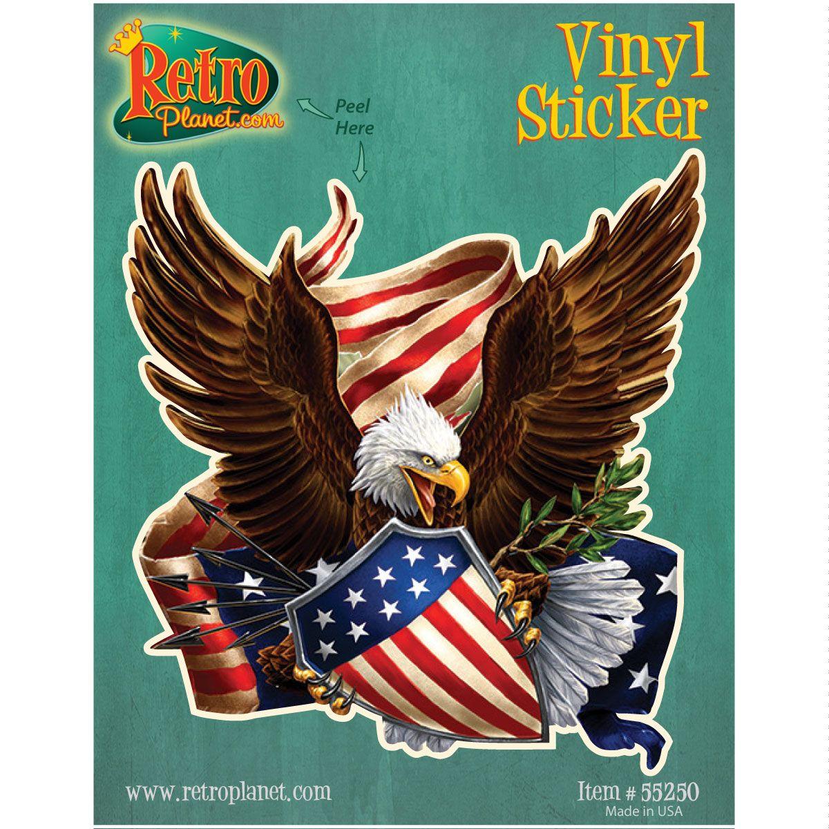 Patriotic American Eagle Cutout Vinyl Sticker Vinyl Stickers Laptop Vinyl Sticker Artwork [ 1200 x 1200 Pixel ]
