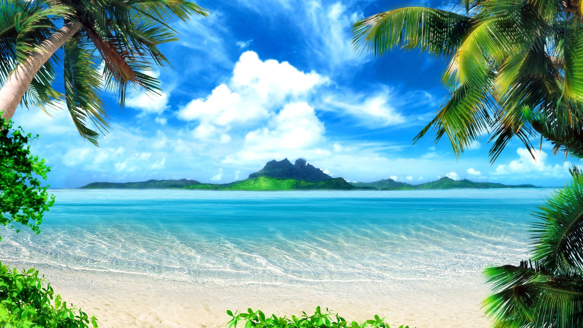 A Postcard Worthy Shot Of Paradise Beach Backdrop Beach Background Beach Wallpaper Desktop wallpaper beach paradise