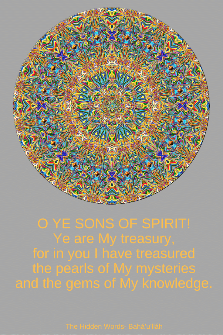 O Ye Sons Of Spirit Ye Are My Treasury For In You I Have Treasure