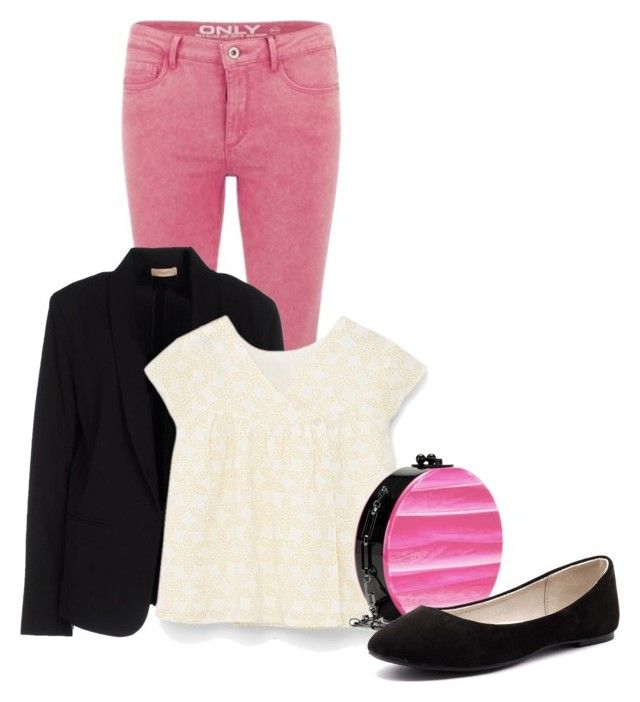 """""""Marinette (Miraculous Ladybug) -Thalia"""" by fandom-sisters ❤ liked on Polyvore featuring ONLY, Maesta, MANGO, Edie Parker, Verali, women's clothing, women, female, woman and misses"""