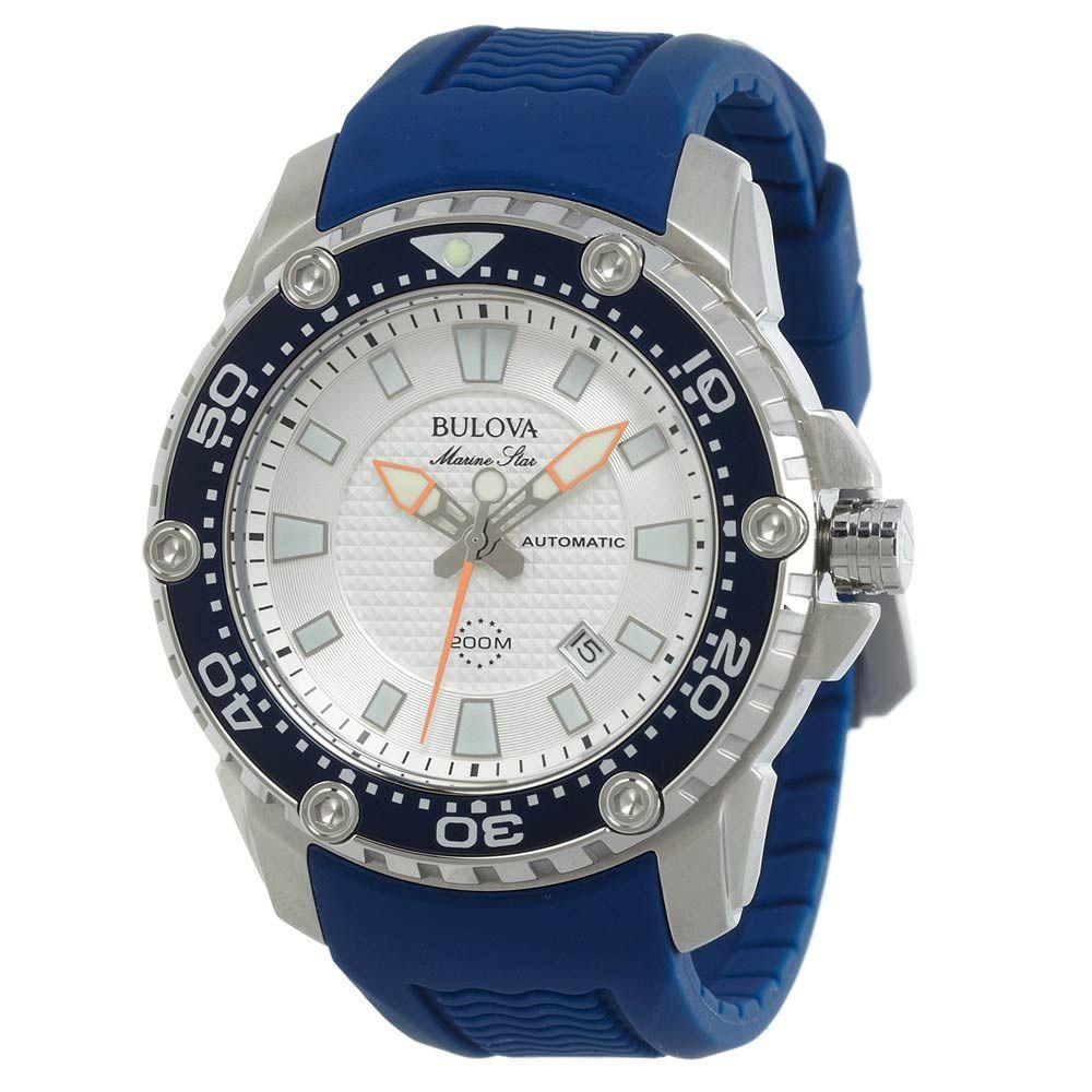 bulova 98b208 s marine sport silver blue