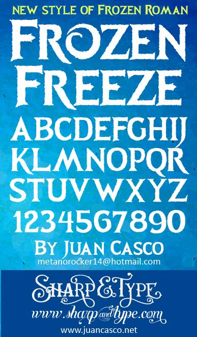 Calendar Typography Generator : Frozen font pixshark images galleries with a bite