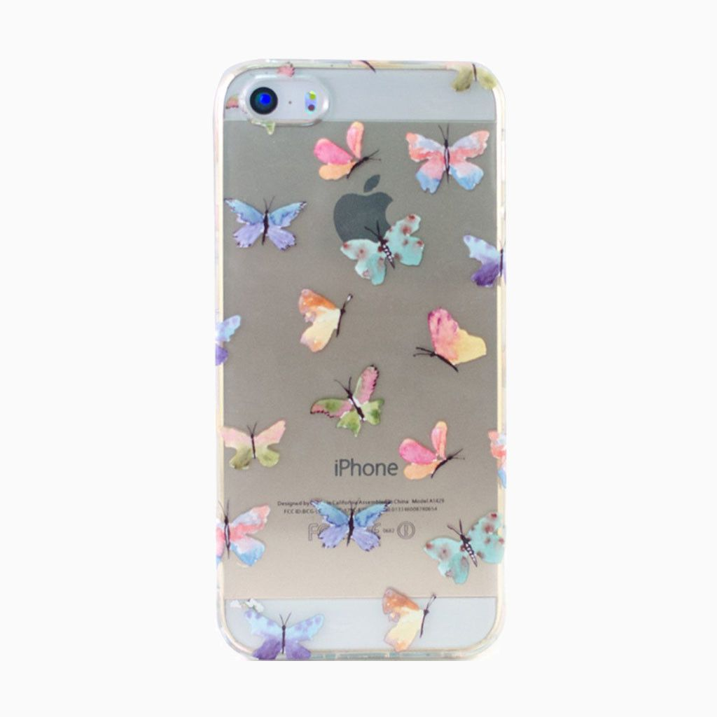 Clear butterflies iphone 5 case case 5s cases iphone 5