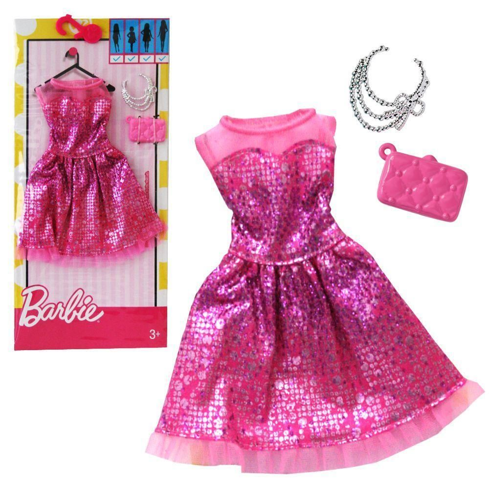 d39054081 2017 BARBIE COMPLETE LOOK FASHION PACK DRESS FOR ALL BODY TYPES CURVY TALL # Mattel