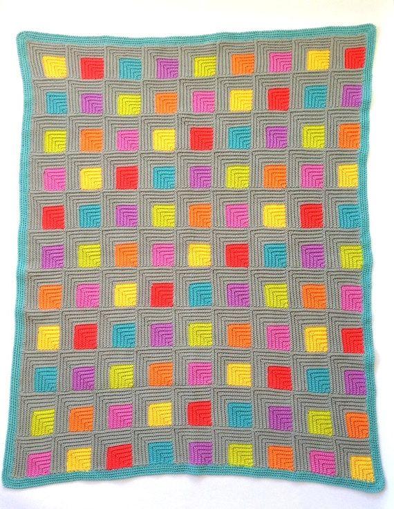 455fac49ec30 Illusion UK terms PDF crochet pattern | Lugares que visitar | Mantas ...