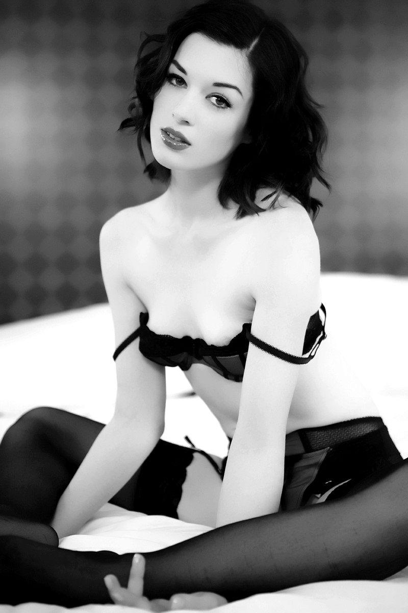 Stoya black lingerie babes