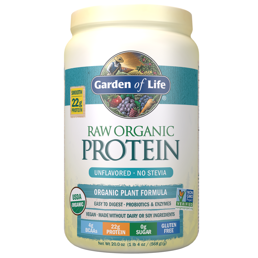 Raw Organic Protein Powder Unflavored No Stevia 19.75
