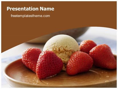 download free strawberry ice cream powerpoint template for