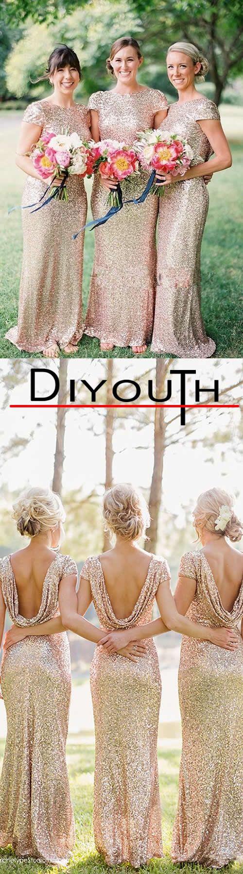 Diyouth sheathcolumn jewel sweepbrush train sequined