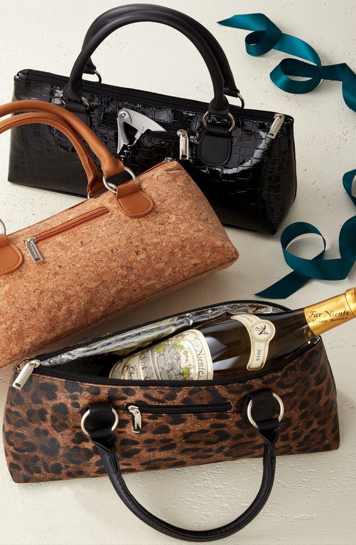 Insulated Single Bottle Wine Clutch | Wine gifts, Wine ...