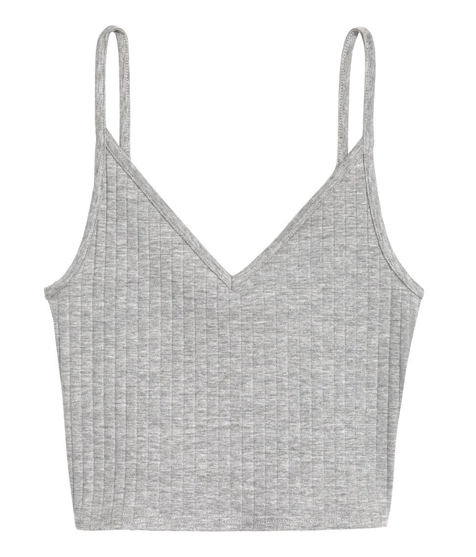 f3d17dade8c Short Jersey Camisole Top | H&M Divided | H&M DIVIDED GIRLS | White ...