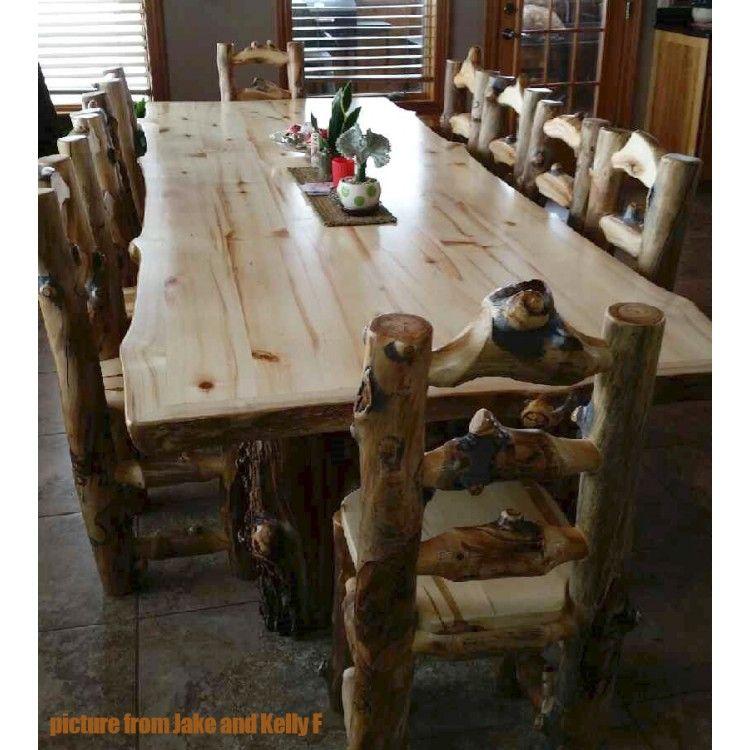 Aspen Lodge Log Dining Table | Aspen, Logs and Cabin