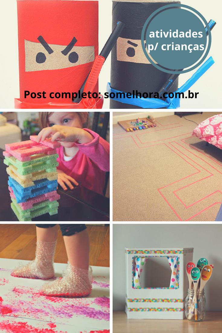 Atividades com crianças para brincar em casa - Só ...