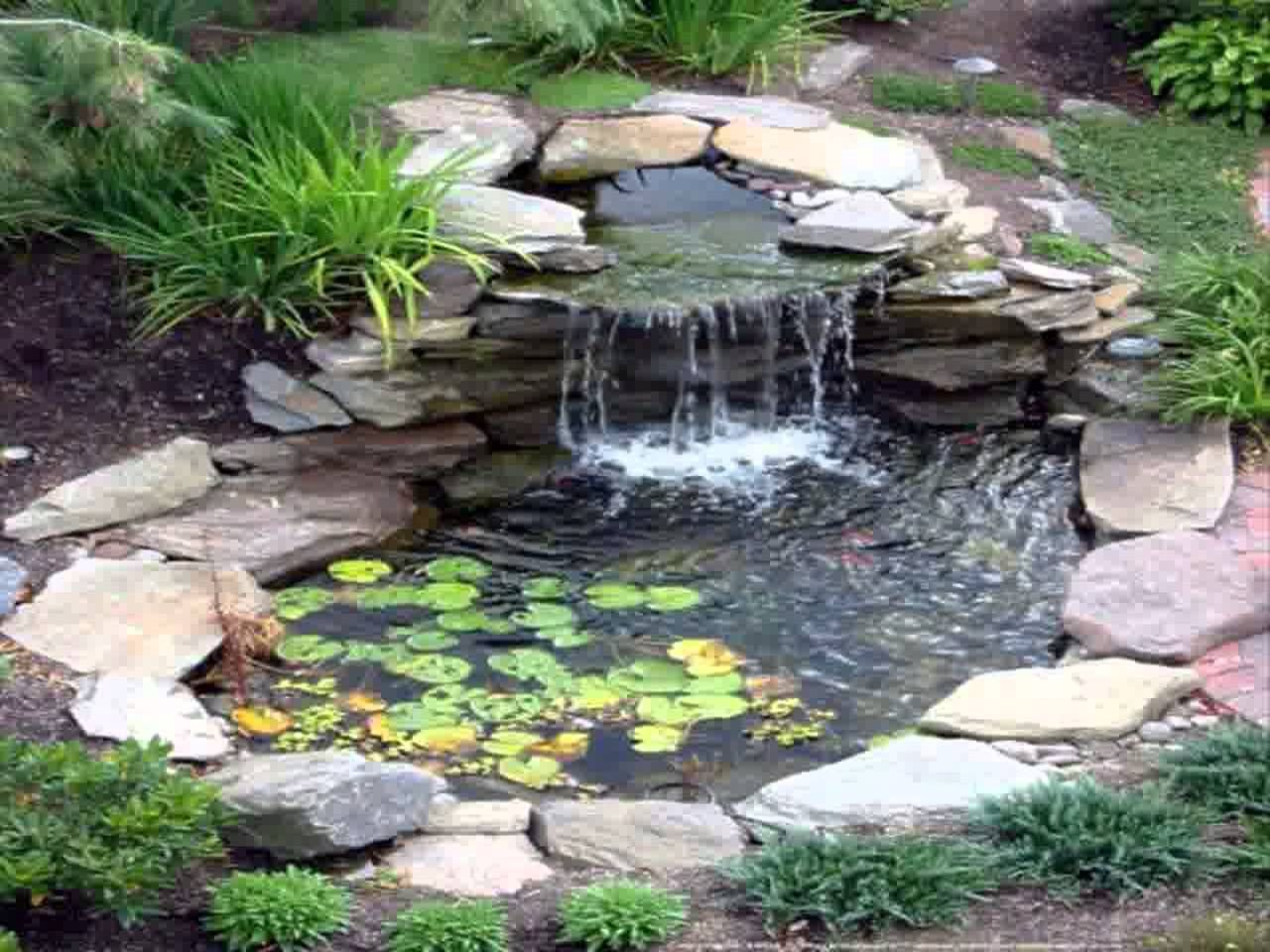 Cascadas en jardines peque os buscar con google for Backyard pond plans