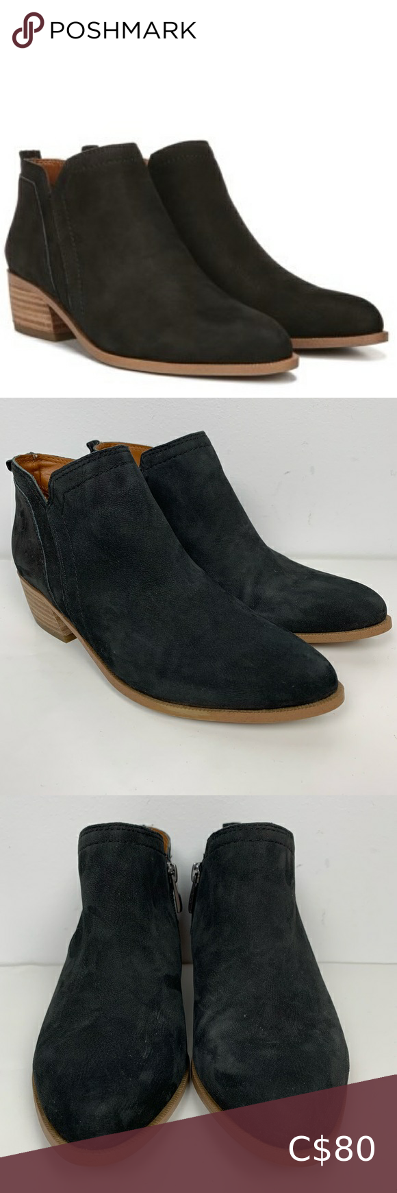 NWOT Franco Sarto Laslo Black Leather
