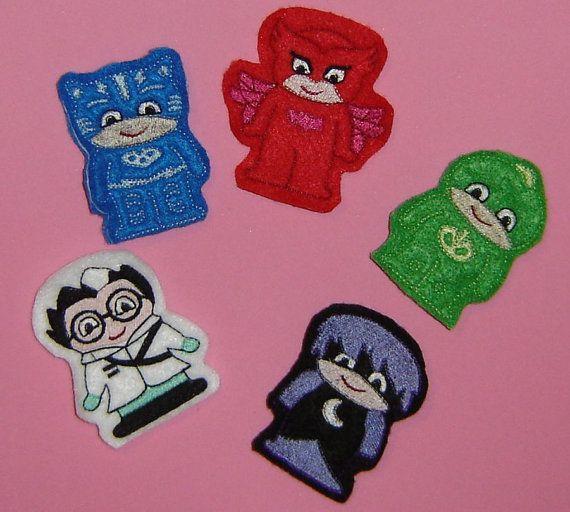 PJ Masks Birthday Finger Puppets Gekko Owlette Catboy Luna Romeo Bedtime Heroes…