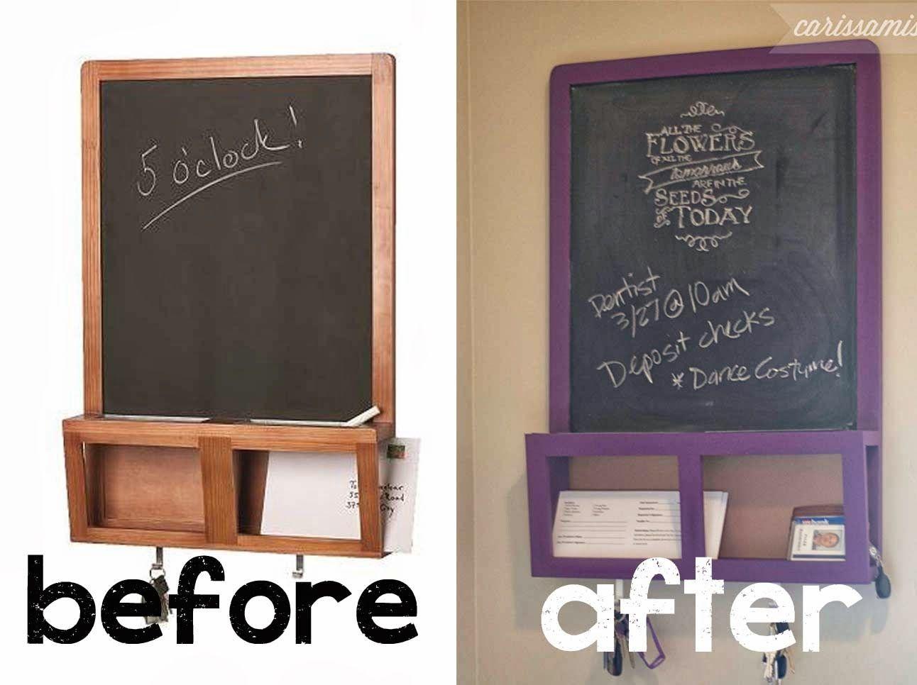 CarissaMiss.com: an easy Ikea Hack! Ikea Luns Chalkboard #countrychicpaint  #ikeahack