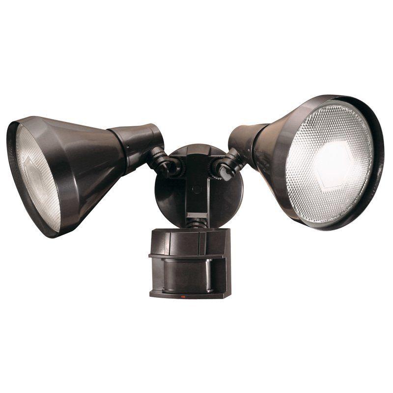 Schaefer 2 Light Flood Light With Motion Sensor Motion Sensor