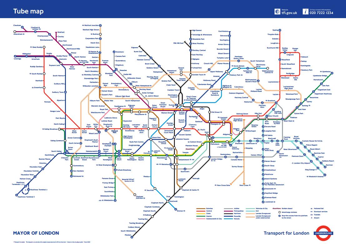 London Underground Maps Worldwide Subway Maps London Underground Map Posters London Tube Map London Underground Map