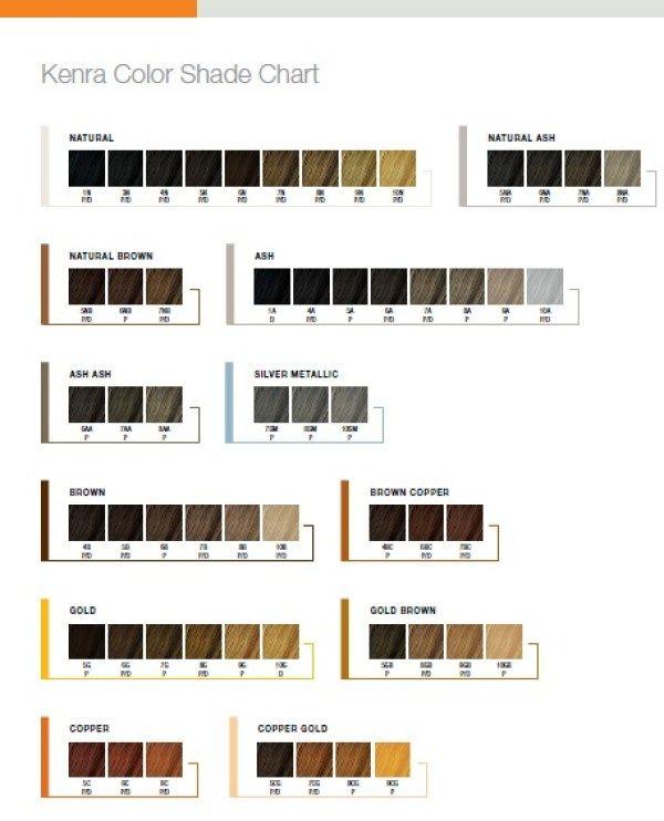 Kenra Color Shade Chart Kenra Hair Color Kenra Color Hair Color Reviews