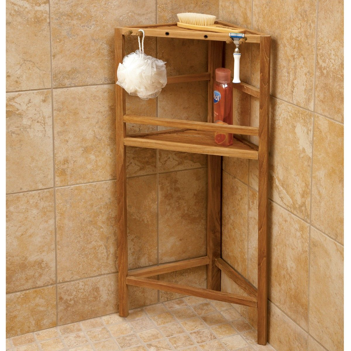 Teak Shower Shelving With Images
