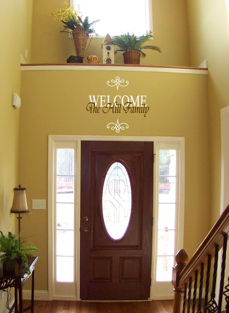 Welcome Family Name Wall Decal | Pinterest | Wall decals and Walls