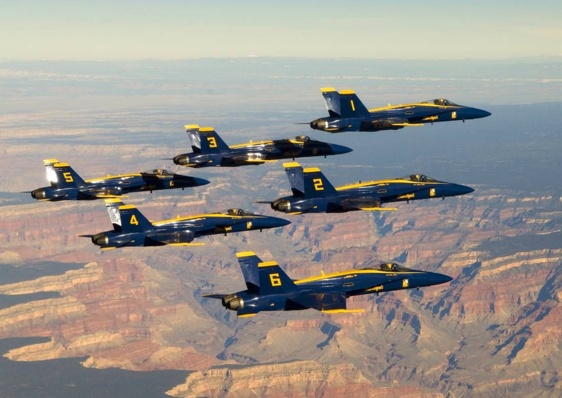I dreamed the Blue Angels came ...flew over Las Vegas, Nv.