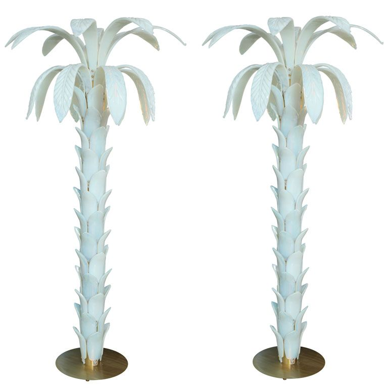 Rare Murano Glass Palm Tree Standing Lamps I Would Seriously Kill For These Standing Lamp Vintage Floor Lamp Mid Century Lamp