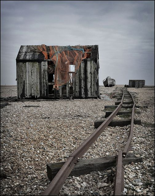 dungeness by Simon Ashmore... abandoned building train tracks