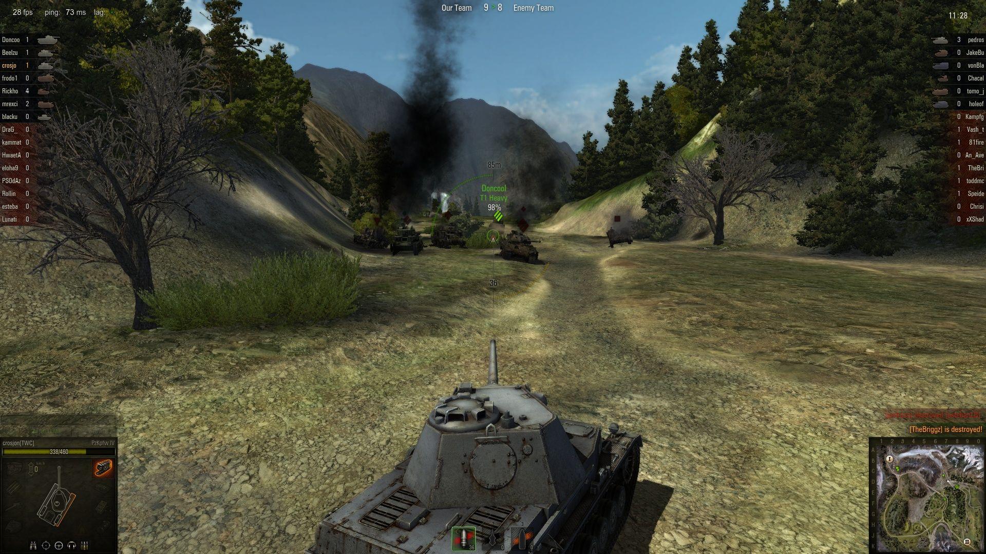 World of Tanks gameplay screenshot. worldoftanks