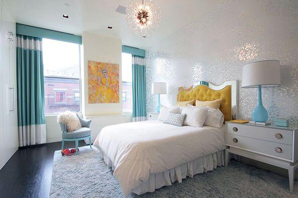 20 ides dco de chambre turquoise pinterest turquoise and deco - Chambre Turquoise Et Blanche
