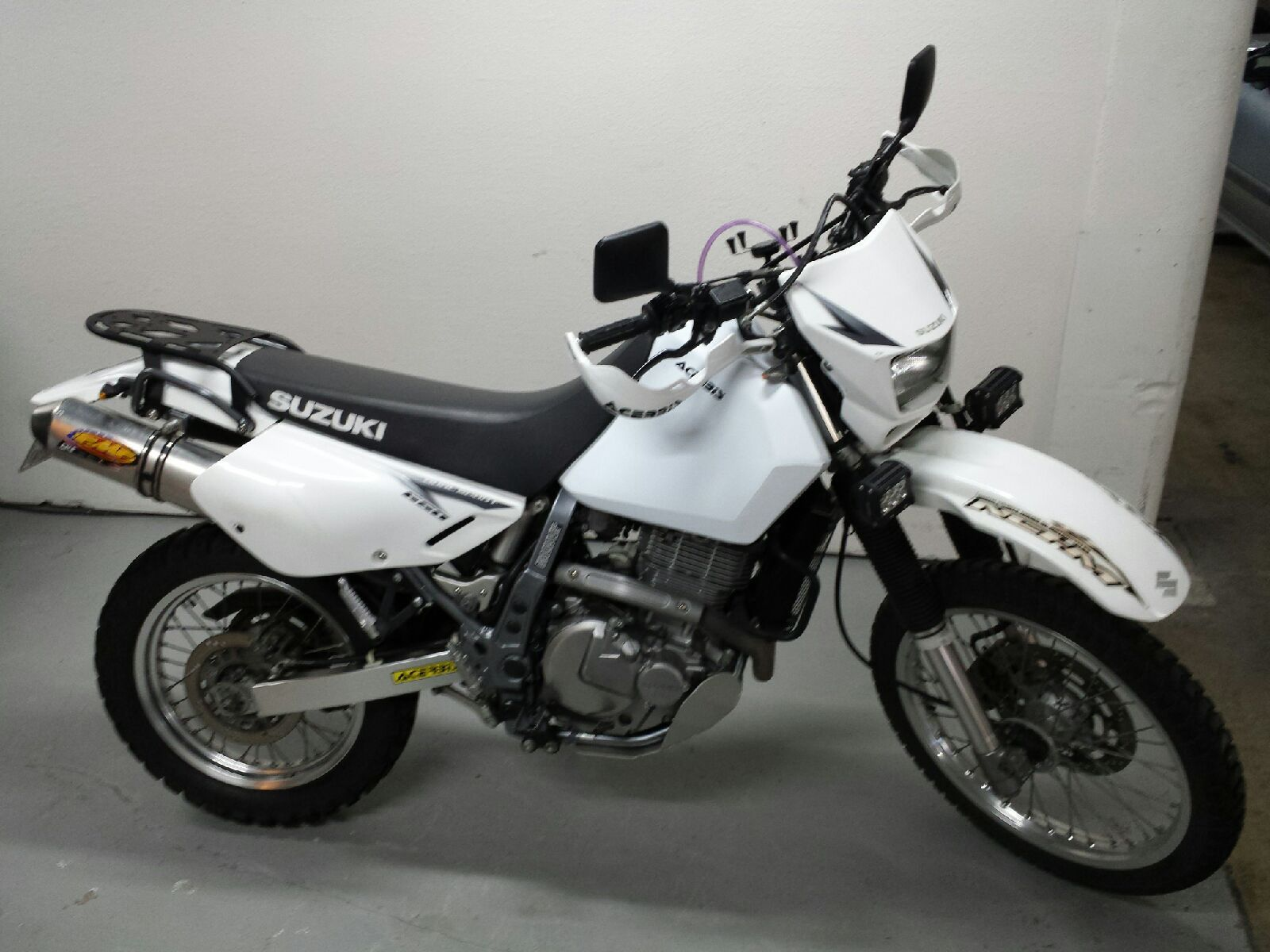 Dr650 With The New Enduro Series Rear Rack Rotopax Ready And Wolfman Compatible Suzuki Dr650 Dr650 Adventure Motorcycling
