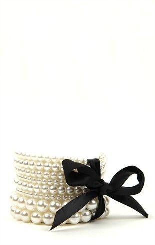 Plus Size Stretch Pearl Bracelets with Bow