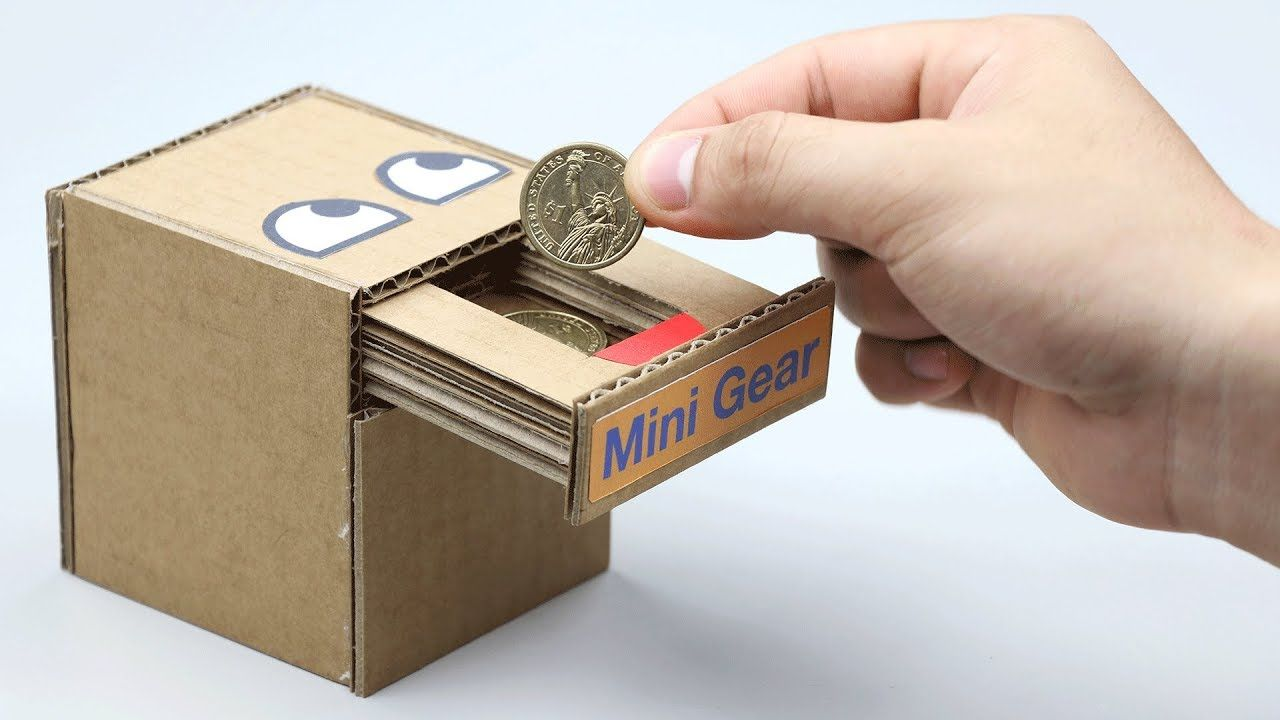 how to make a money box with cardboard
