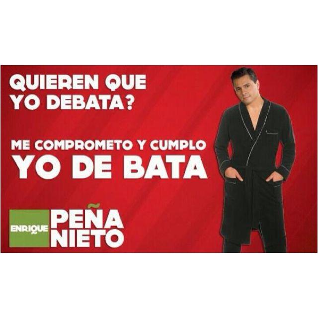 Quieren que Peña Nieto debata?