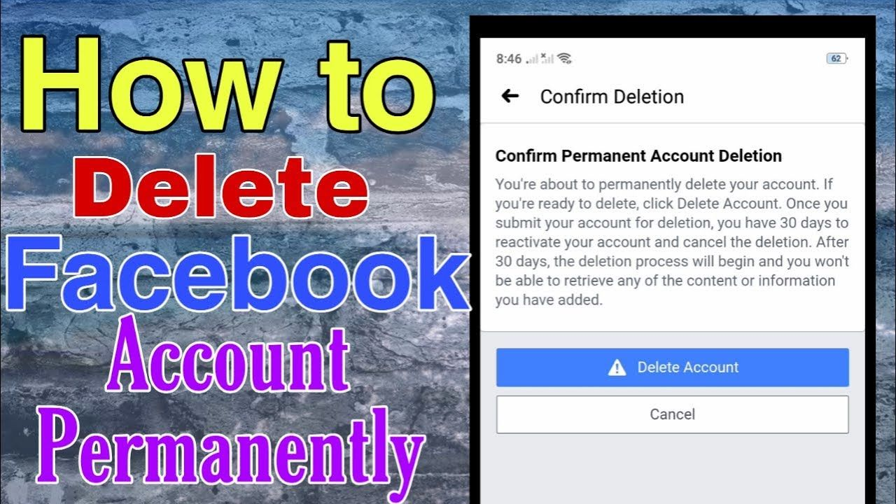 How To Delete Facebook Account Permanently 2020 Facebook