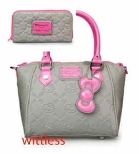 Authentic Sanrio Loungefly Pink Neon Splash Hello Kitty Purse Wallet Gray  Pink  f22f58c4f3f66