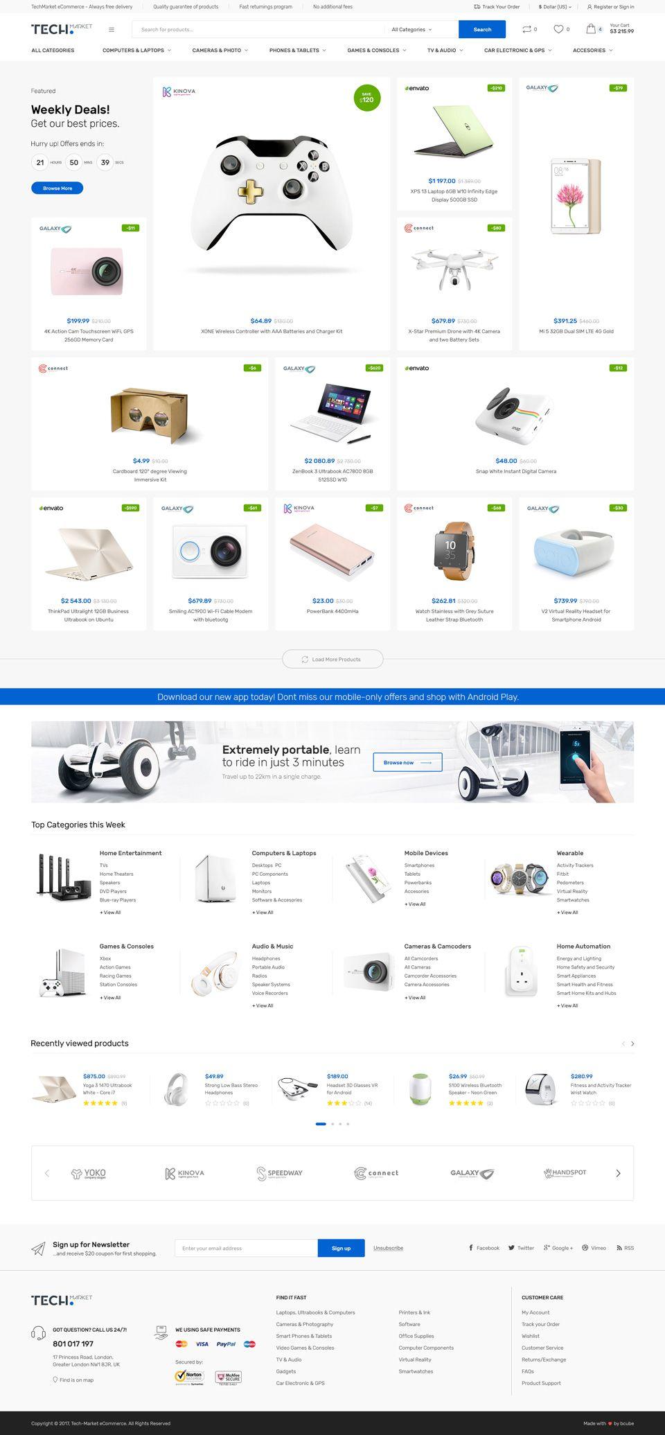 Techmarket Multi Demo Electronics Store Woocommerce Theme Stylelib Woocommerce Themes Web Development Design Ecommerce