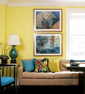 Living room colors, teal, yellow... | living room ideas | Pinterest ...