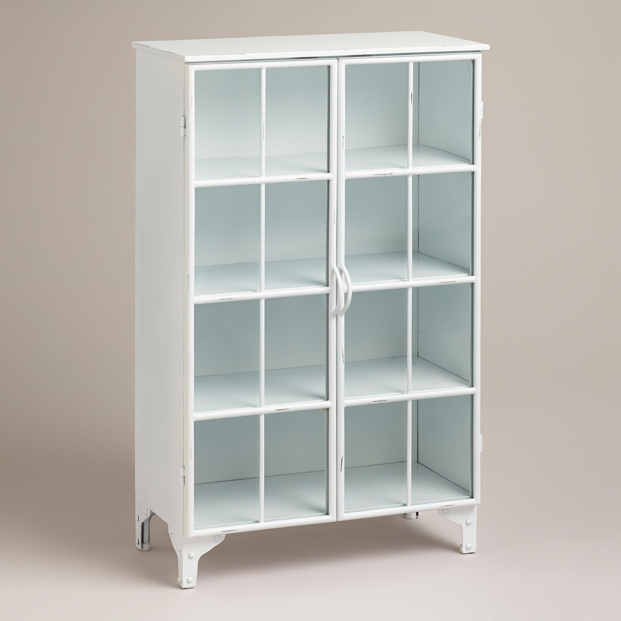 White Giselle Double Cabinet from World Market. Made of metal in a ...