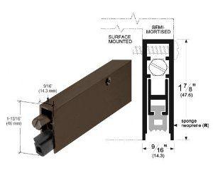 Crl Dark Bronze Finish Commercial Medium Duty Automatic Door Bottom Seal For 36 Door By Crl 59 78 C R Laurence D Automatic Door Home Hardware Drafty Doors