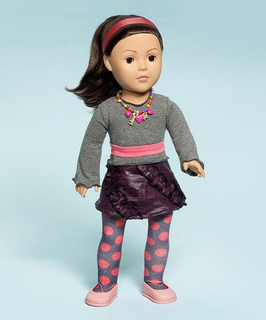 """Key to My Heart Doll by Madame Alexander on #zulily 5/1/13! Reg $55., Now $33.99. Little ones need a companion who's there for every tea party, playtime romp and adventure in dreamland. This darling doll is articulated at the neck, shoulders and hips, and has brown eyes that open and close, espresso brown locks and a trendy outfit to boot.   Includes: 18""""H doll and outfit.  Recommended for ages 3 years and up. Imported."""