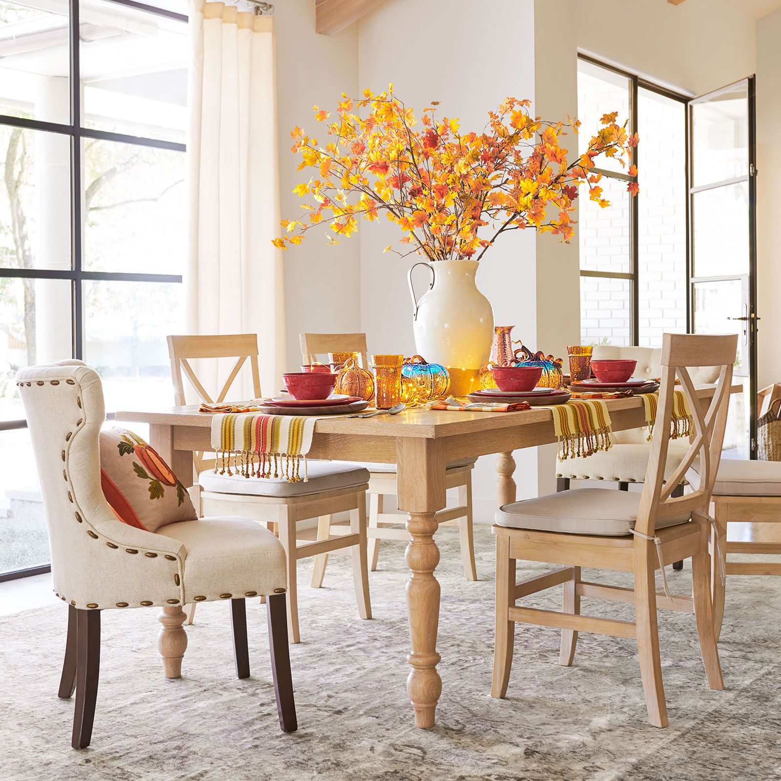 Build Your Own Torrance Whitewash Hourglass Chair Dining