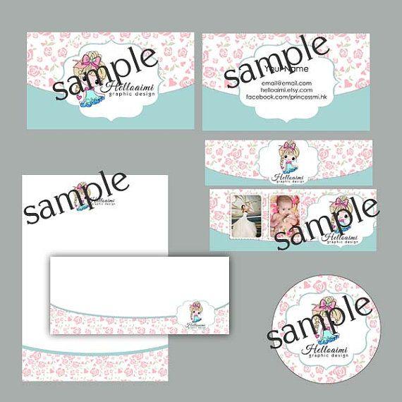 Custom Premade Marketing Branding Set 6pieces  PINK by helloaimi, $60.00