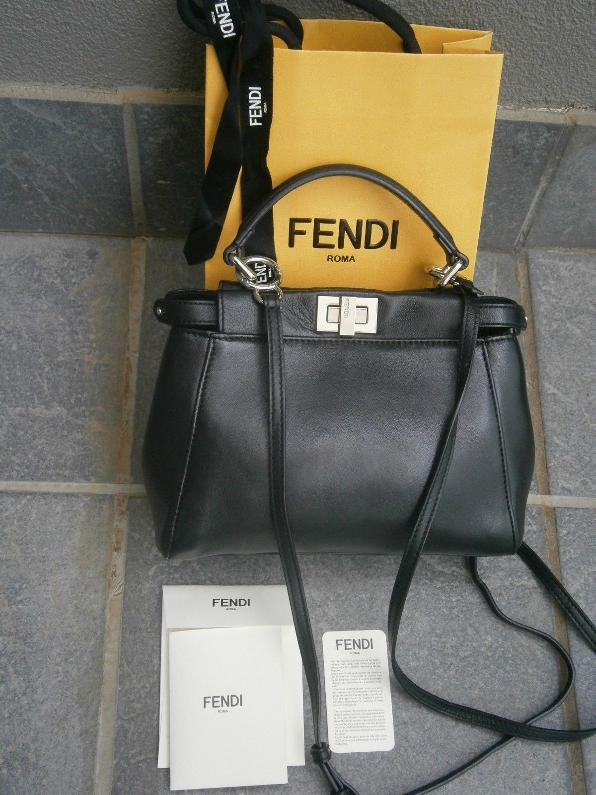 9b149d2cdc4 FENDI CROSSBODY HAND LEATHER BAG.MADE IN ITALY.   Fendi in 2019 ...
