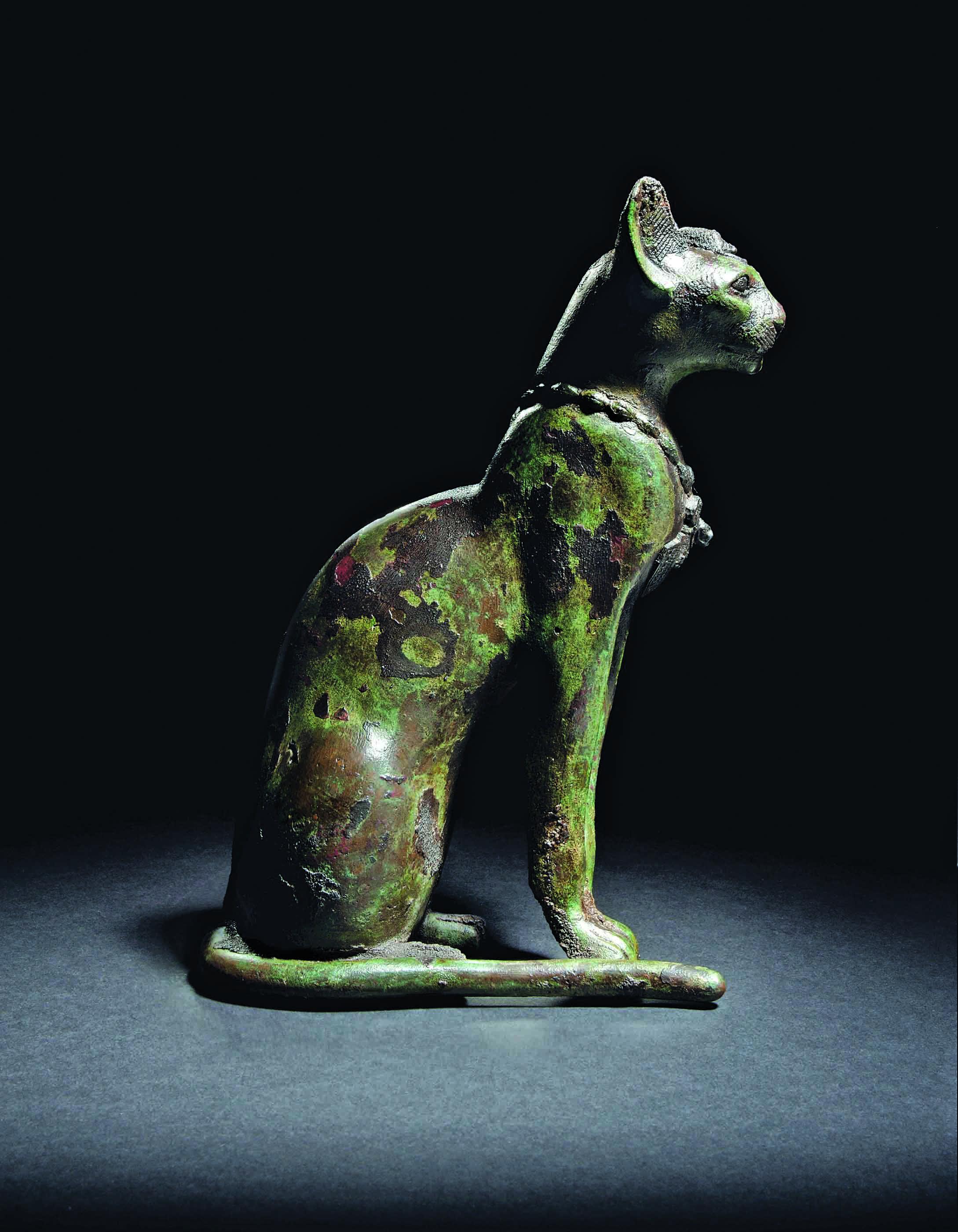 Egyptian Bronze Cat. Circa 664343 BC. .Egyptian Antics