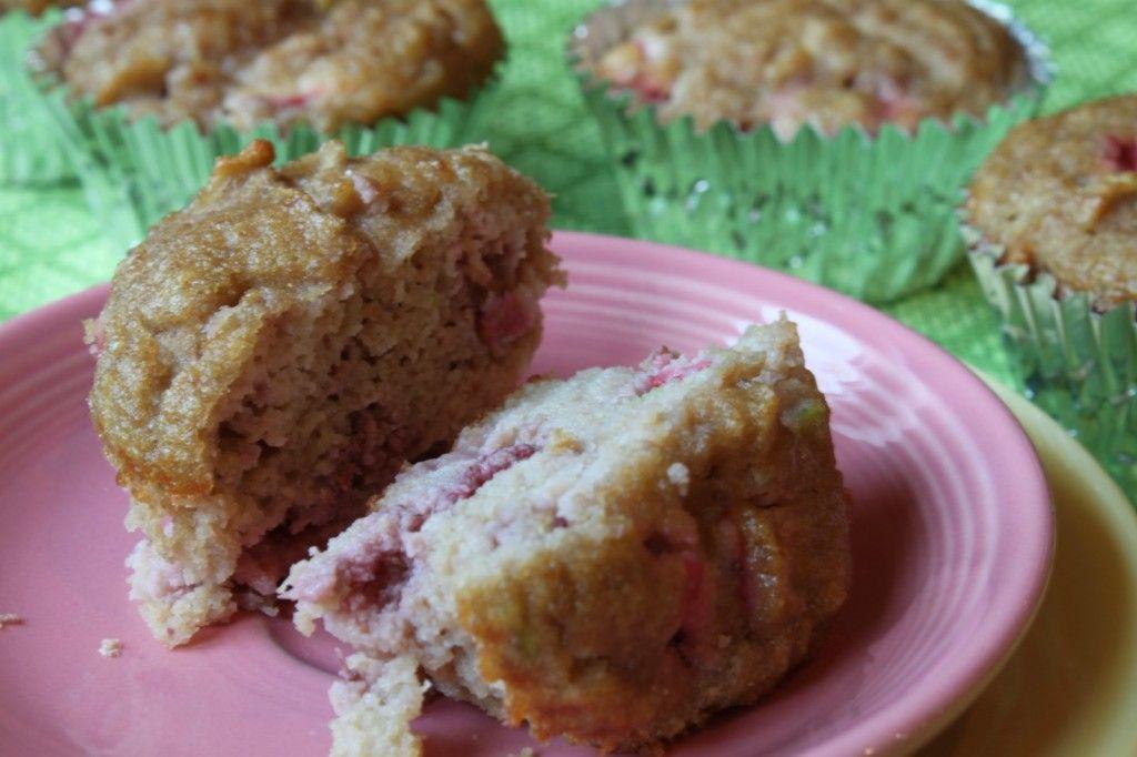 paleo strawberry-zucchini muffins (zucchini, eggs, applesauce, honey, vanilla, coconut flour, strawberries)