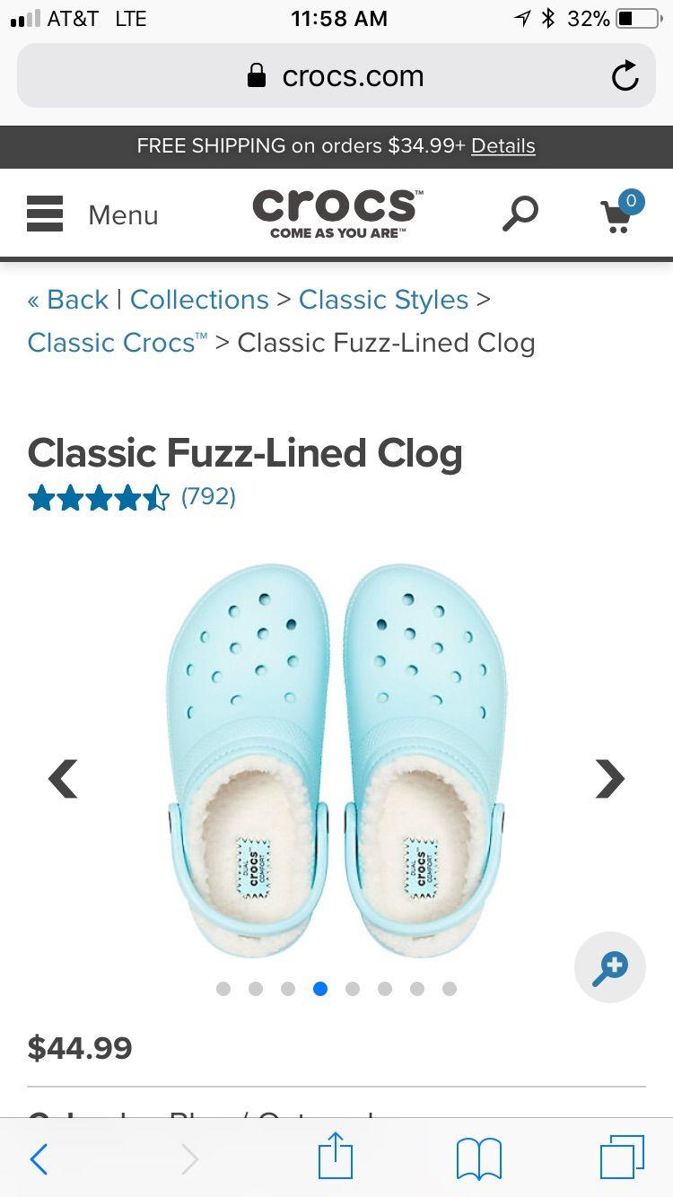 Fuzzy crocs, Crocs shoes women