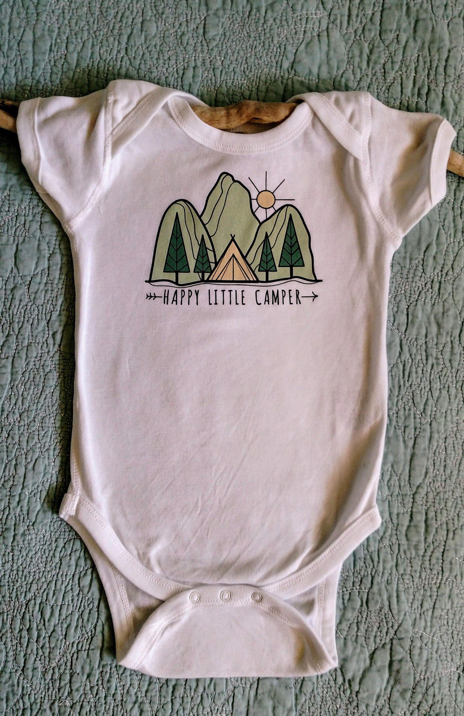 324a4c2cb Happy Little Camper Onesie  Wild One  Adventure  Camp Shirt ...